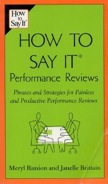 How to Say It Performance Reviews: